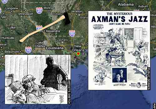 axeman of new orleans That's why it seems oddly peculiar that so few people seem to have ever heard of the axeman of new orleans the axeman operated from may 1918 until he vanished in.